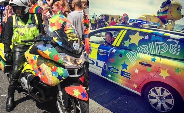 Angleterre: la police aux couleurs de l'arc-en-ciel pour la Pride de Brighton