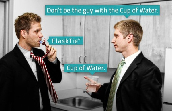 Flask Tie: A Tie That Lets You Drink at Work | Bored Panda