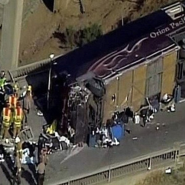 Accident de bus en Californie : Aldo et Virginie de retour en France | France-Amérique