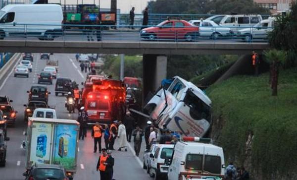 """Accident d'autocar à Casablanca : Deux mort et quatre blessés graves """"Vidéo"""". – MarocZone"""