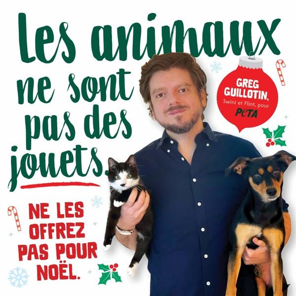 Greg Guillotin rappelle que les animaux ne sont pas des cadeaux de Noël | Actualités | PETA France