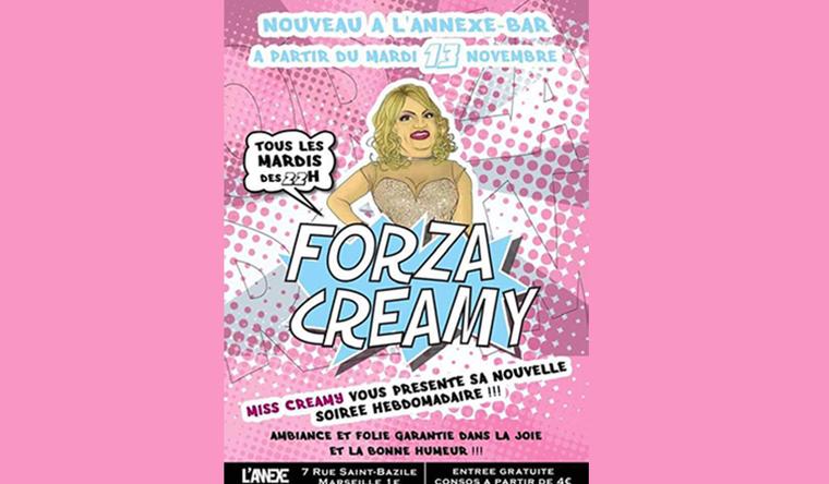 Tous les mardis -Miss Creamy - Gay-Marseille