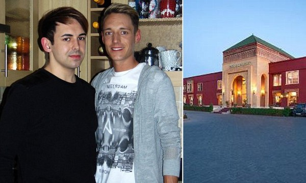 Couple banned from going on their first holiday together to four-star Moroccan spa resort because they're gay