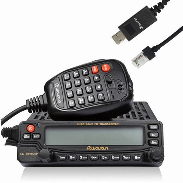 Wouxun KG-UV950P Qual Cross Bande Car Mobile Radio Repeater+ Programmation Câble