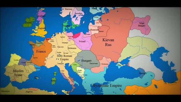 LiveLeak.com - Map of Europe: 1000 AD to present day