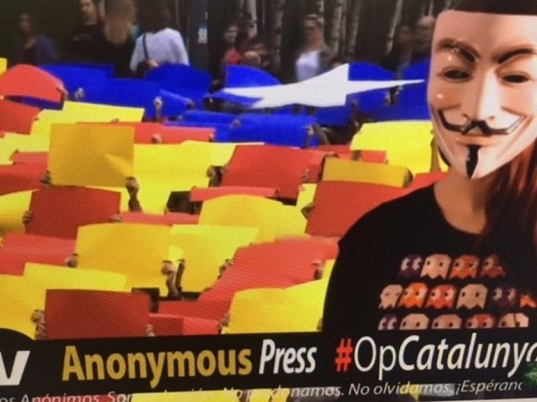 """""""Anonymous"""" attaque le site web du tribunal constitutionnel espagnol (vidéo)"""