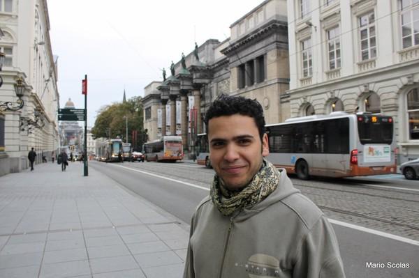 Marouane Hajji à Bruxelles