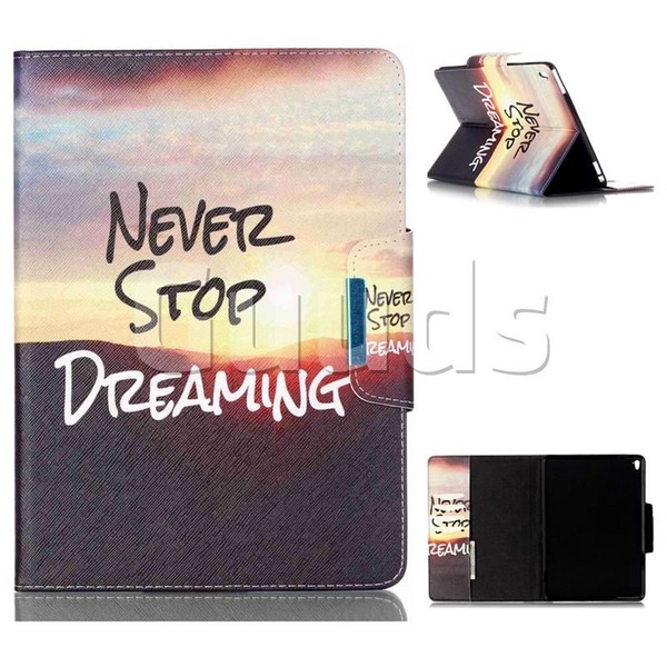 Sunset Never Stop Dreaming Folio Flip Stand Leather Wallet Case for iPad Pro 9.7 2016 9.7 inch - Leather Case - Guuds