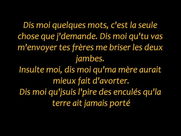 Orelsan ~ Finir mal ~ Paroles