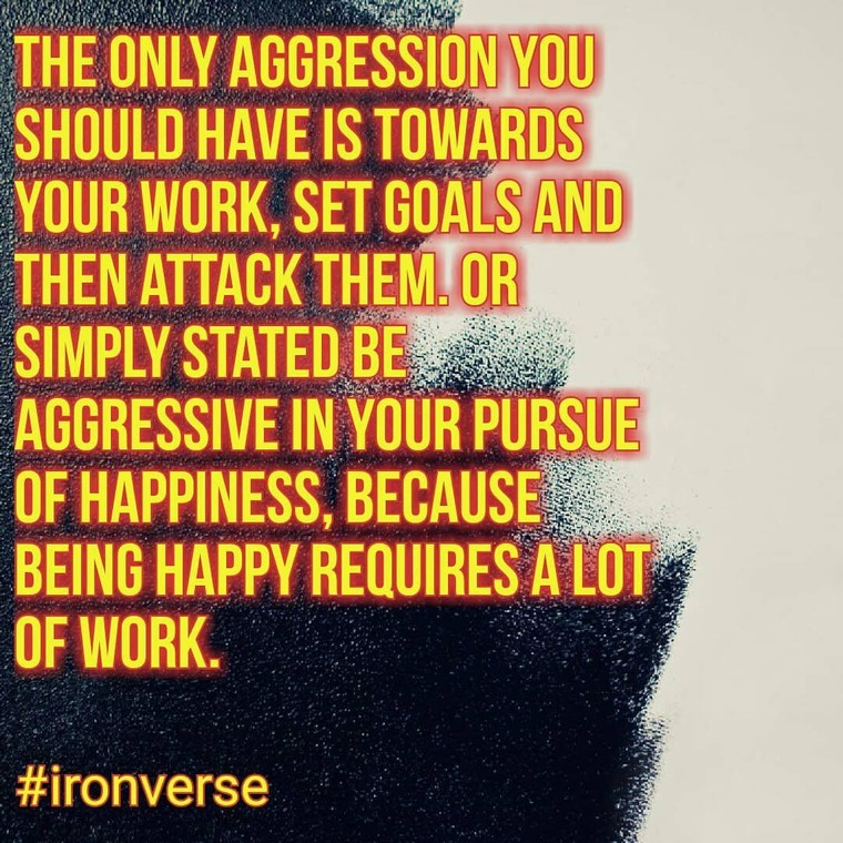 """Dirk O'Kennedy on Instagram: """"The only aggression you should have is towards your work, set goals and then attacks them. Or simply stated be aggressive in your pursue of…"""""""