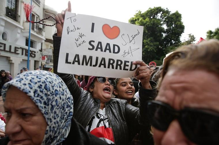 Casablanca: Une manifestation de soutien à Saad Lamjarred se tient devant le consulat de France