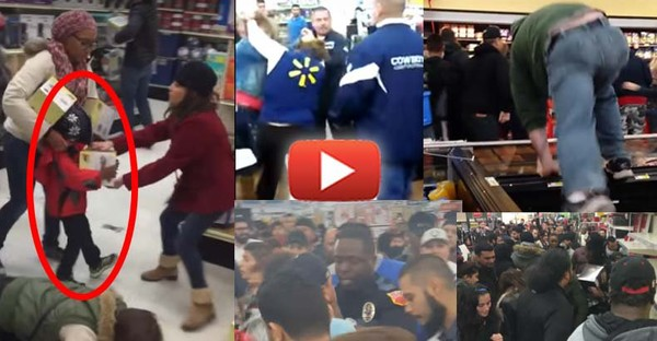 WTF America? 2015 Black Friday Videos Show How the US Has Lost Its Humanity