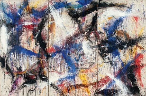 Exposition Art Blog: Norman Bluhm - American Abstract Expressionism - Action Painting