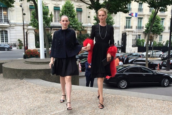PHOTOS - Uma Thurman vous présente sa fille à la Fashion Week