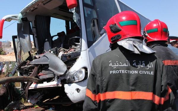 Collision frontale entre deux autocars à Rabat, une trentaine de blessés