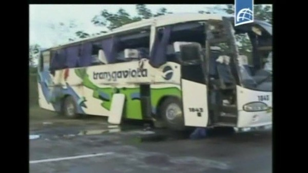41 touristes français blessés dasn un accident de car à Cuba du 2 décembre 2014, info : RTBF Vidéo