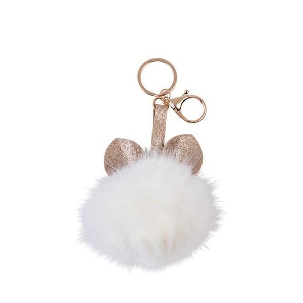 PLUSH ANIMAL Porte-clés crème Ø 8 cm| CASA -€4,99