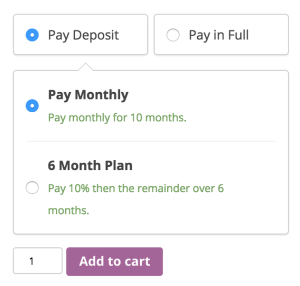 WooCommerce Deposits 1.2.1 Extension - Get Lot