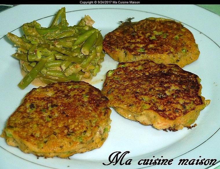 GALETTE DE POIS CHICHE ET PETITS POIS CAROTTES (Recette maison) - Ma Cuisine Maison
