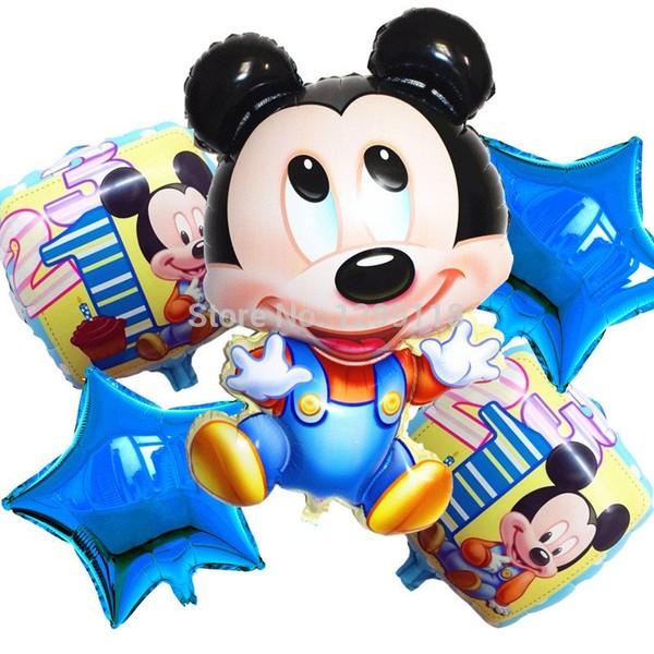 5 pcs/lot New Mickey Minnie Souris Joyeux anniversaire ballon décoration de bande dessinée parti foil ballon Combinaison partie fournisseur dans Ballons et Accessoires de Maison & Jardin sur AliE...
