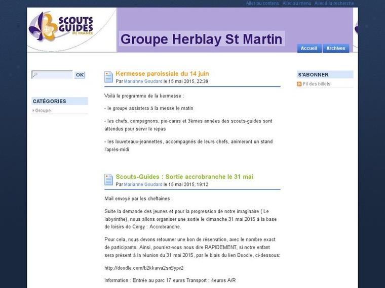 Blog du Groupe de Herblay - SGDF | Mag90Recherche