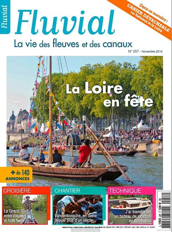 Revue Fluvial vient de paraître Fluvial 257 - Le numéro de novembre est en kiosque