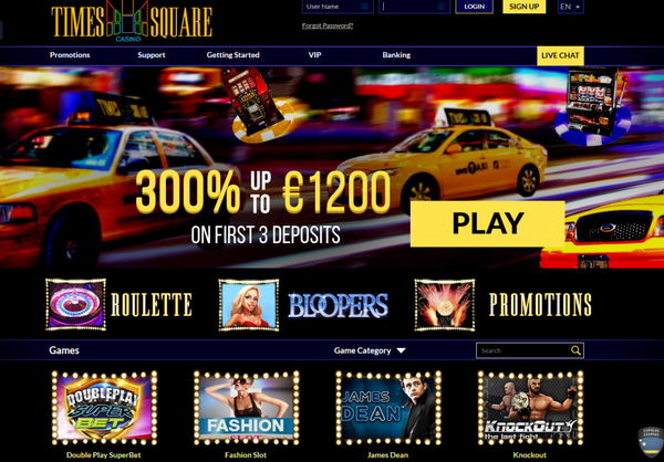 TIME SQUARE CASINO 300% BONUS ON YOUR FIRST 3 DEPOSITS - WORLDGAMBLING the best Casinos,Games and Bet games