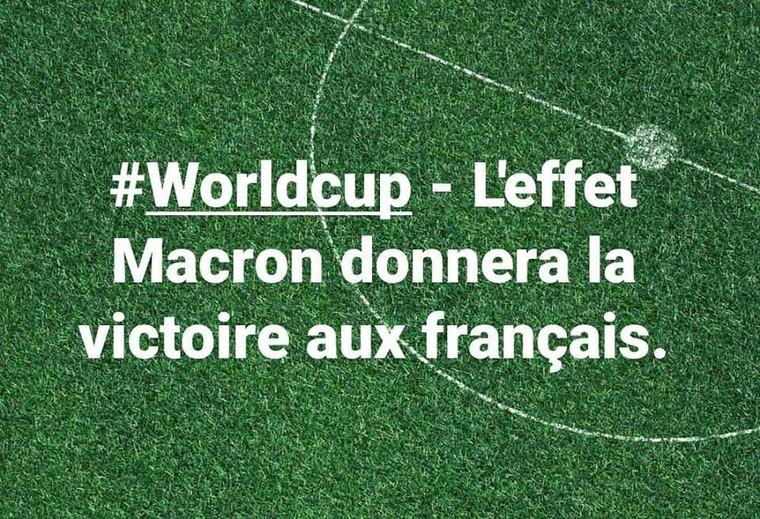 #Worldcup - L'effet Macron donnera la victoire aux français. - LNO