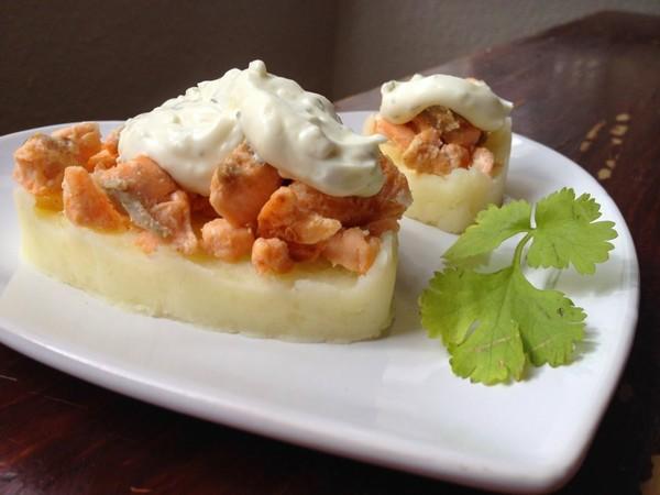 Cuisine Ma-Ligne!: Parmentier de saumon fromage ail et fines herbes (7pp)