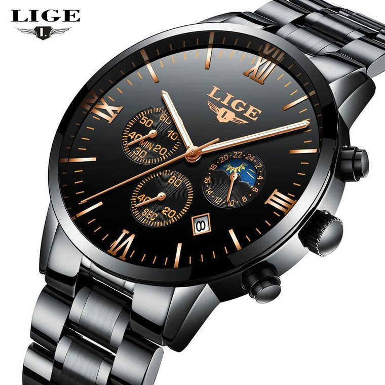 LIGE NEW Men's Watches Top Brand Luxury Men Quartz Watch Man Full Steel Multifunction Date Fashion Sport Clock Relogio Masculino-in Quartz Watches from Watches on Aliexpress.com | Alibaba Group