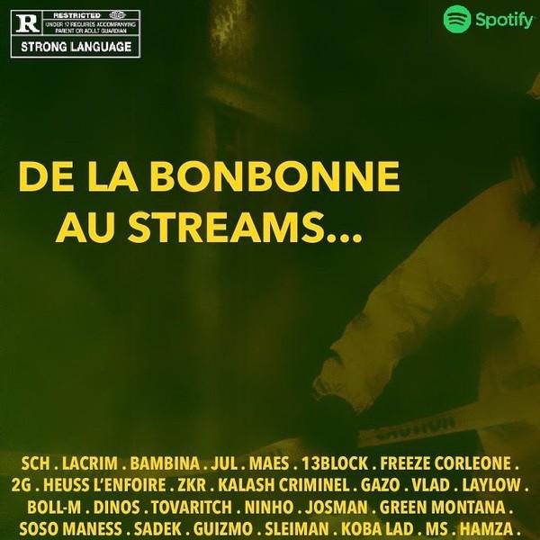 """EDEN on Instagram: """"«De La Bonbonne au Streams» exclusivement disponible sur Spotify avec @officielacrim @bambinaofficiel @sch @2gcestleger_ @13blockofficiel…"""""""