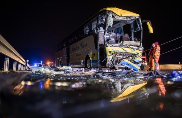 Accident d'un autocar belge en Bavière: un chauffeur décédé, 18 blessés dont 5 graves