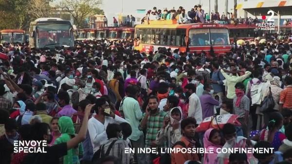 VIDEO. En Inde, l'impossible confinement