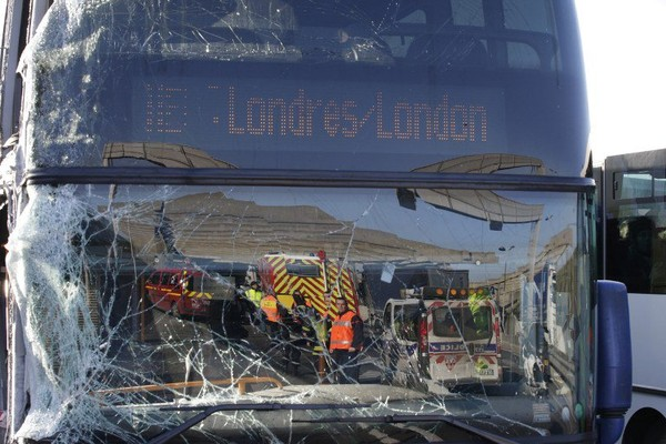British passenger critically injured after London-bound coach crashes near Paris