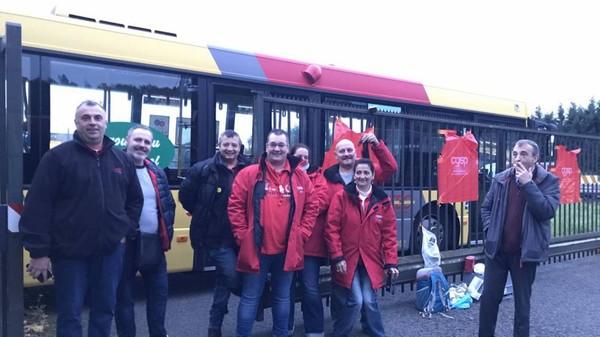 Grève: les TEC à l'arrêt à Liège et Charleroi, les TEC brabançons relativement épargnés à 17H
