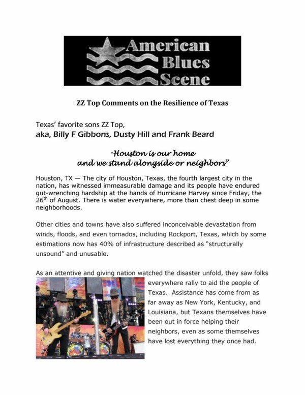 American blues zz top comments on the resilience of texas