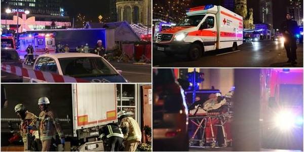 Un camion fonce dans la foule au marché de Noël de Berlin: 9 morts, un suspect arrêté, la police tente de rassurer la population (PHOTOS ET VIDEO)