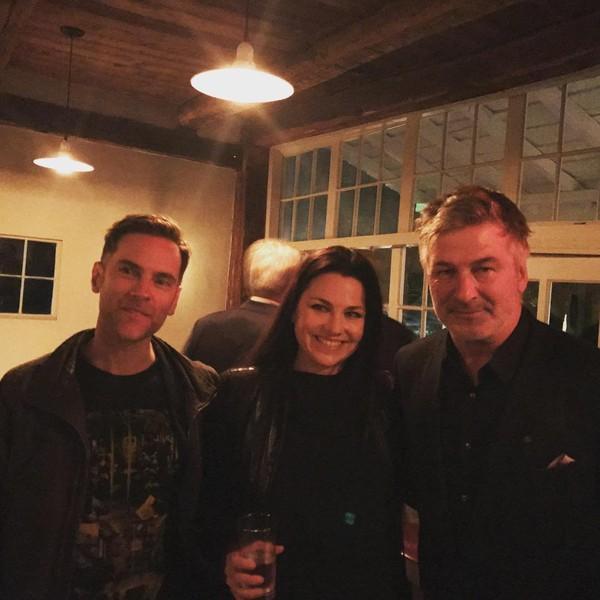 Amy à la première de BLIND au Woodstock Film festival avec Chuck Palmer et Alec Baldwin!