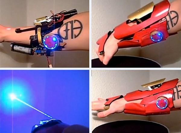 Iron Man Gauntlet With Pop-Up Burning Laser Blaster | Geekologie