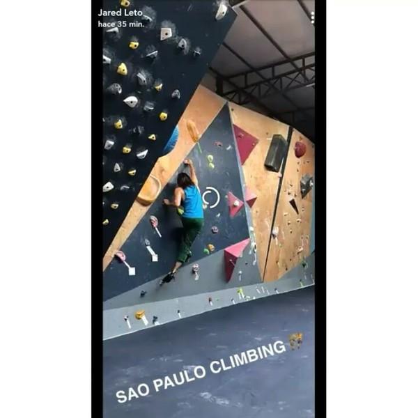 """30 STM and Jared Leto ❤❤ on Instagram: """"Jared on Snapchat #JaredLeto #JaredLetoSnapchat #Climbing #SaoPaulo #Brasil"""""""