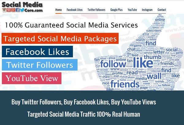Social Media Core - Buy Twitter Followers, Buy Facebook Likes, Shares