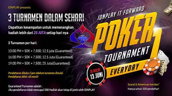 Daftar Turnamen Poker Online Berhadiah Puluhan Juta Rupiah