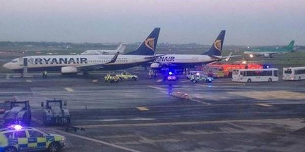 Collision entre deux avions Ryanair à Dublin: un des appareils devait se rendre à Charleroi