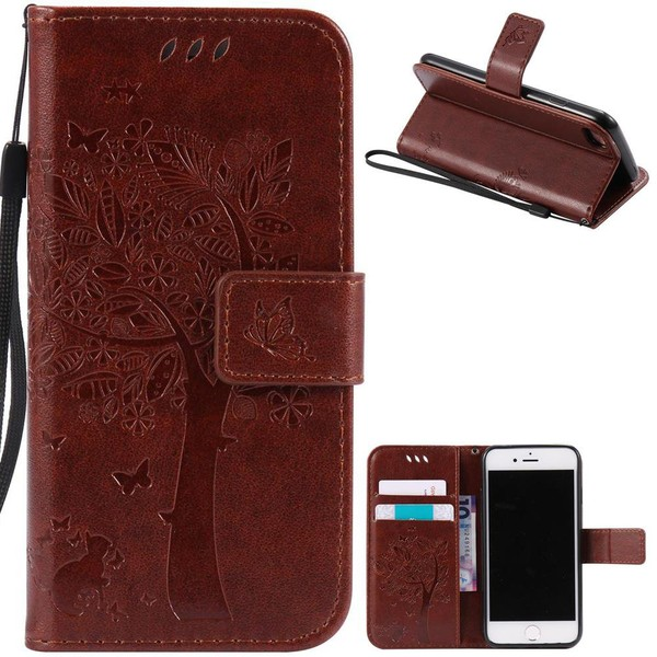 Aliexpress.com : Buy GUUDS For iPhone7 Phone Case Embossing Butterfly Tree Leather Wallet Case Cover for iPhone 7 7G (4.7 inch) Stand FREE SHIPPING from Reliable leather wallet case suppliers on GU...