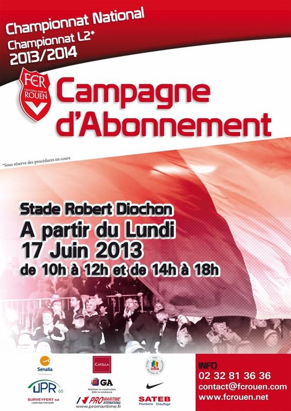 FCR - Campagne d'abonnement 2013-2014