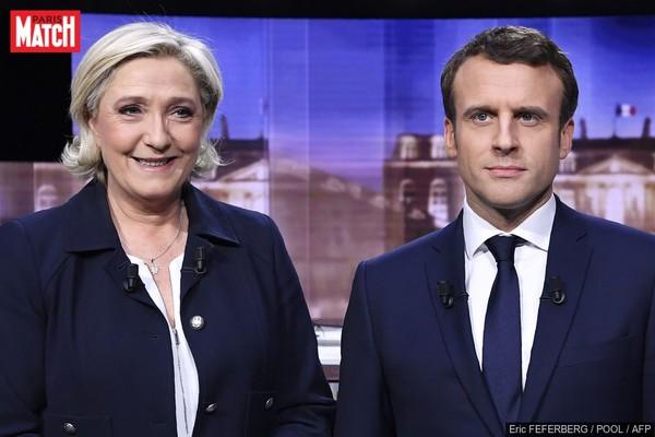 """Sondage post-débat : """"un KO"""" en faveur d'Emmanuel Macron"""