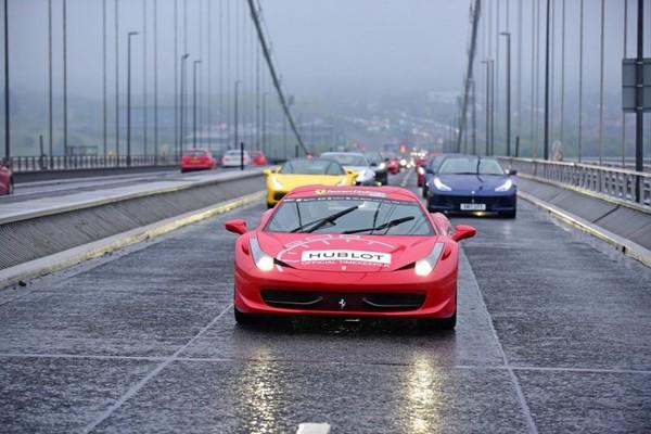 Ferrari Owners Club GB organized one of the biggest Ferrari parades