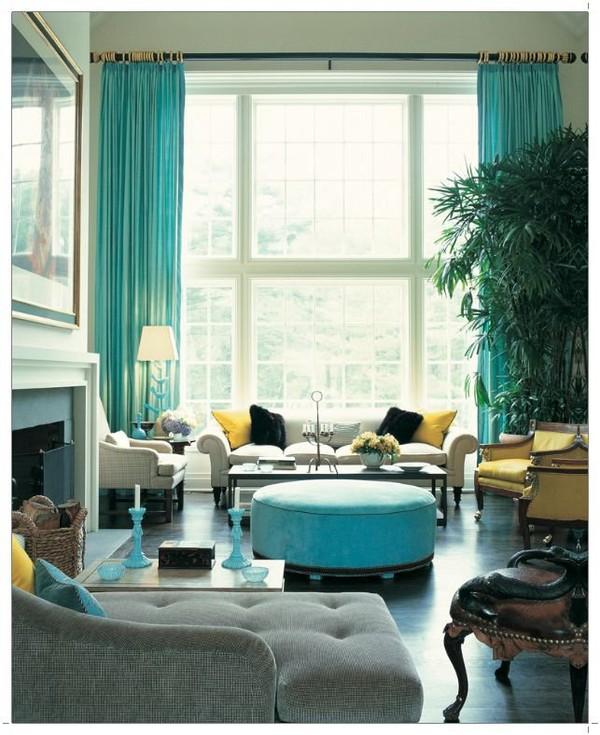 Turquoise Living Room Design Ideas | Interior PIN