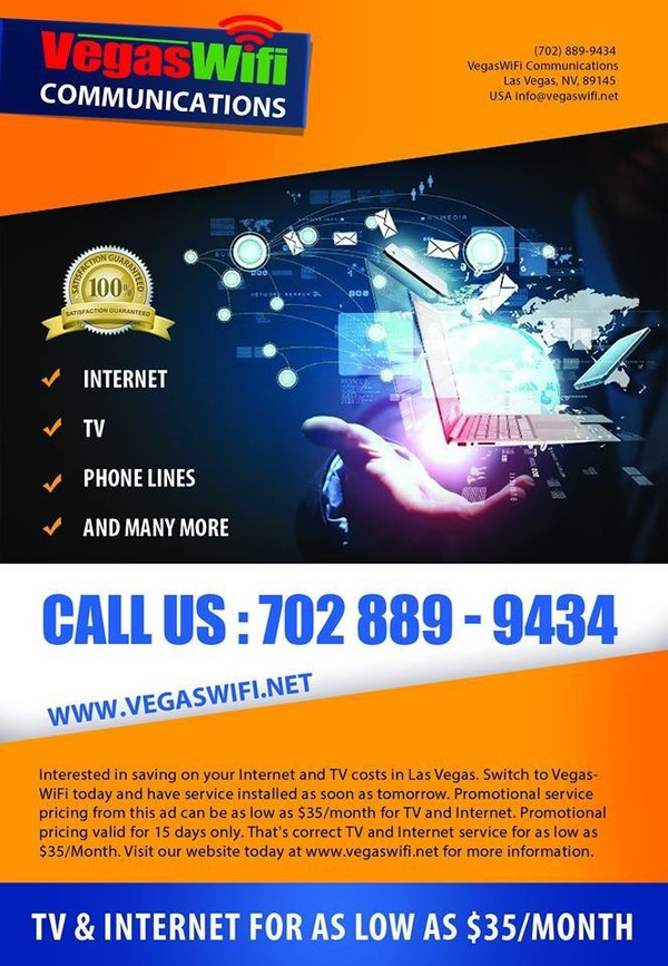 Fixed Wireless Las Vegas - Vegas Wifi Communications | Vegas Wifi Communications | Address : 701 Anatolia Ln, Las Vegas, NV 89145, USA | Phone Number : (702) 889-9434 | Business E-Mail : info@vegas...