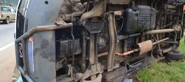 La Régionale - Accident de la circulation : Un autocar se renverse